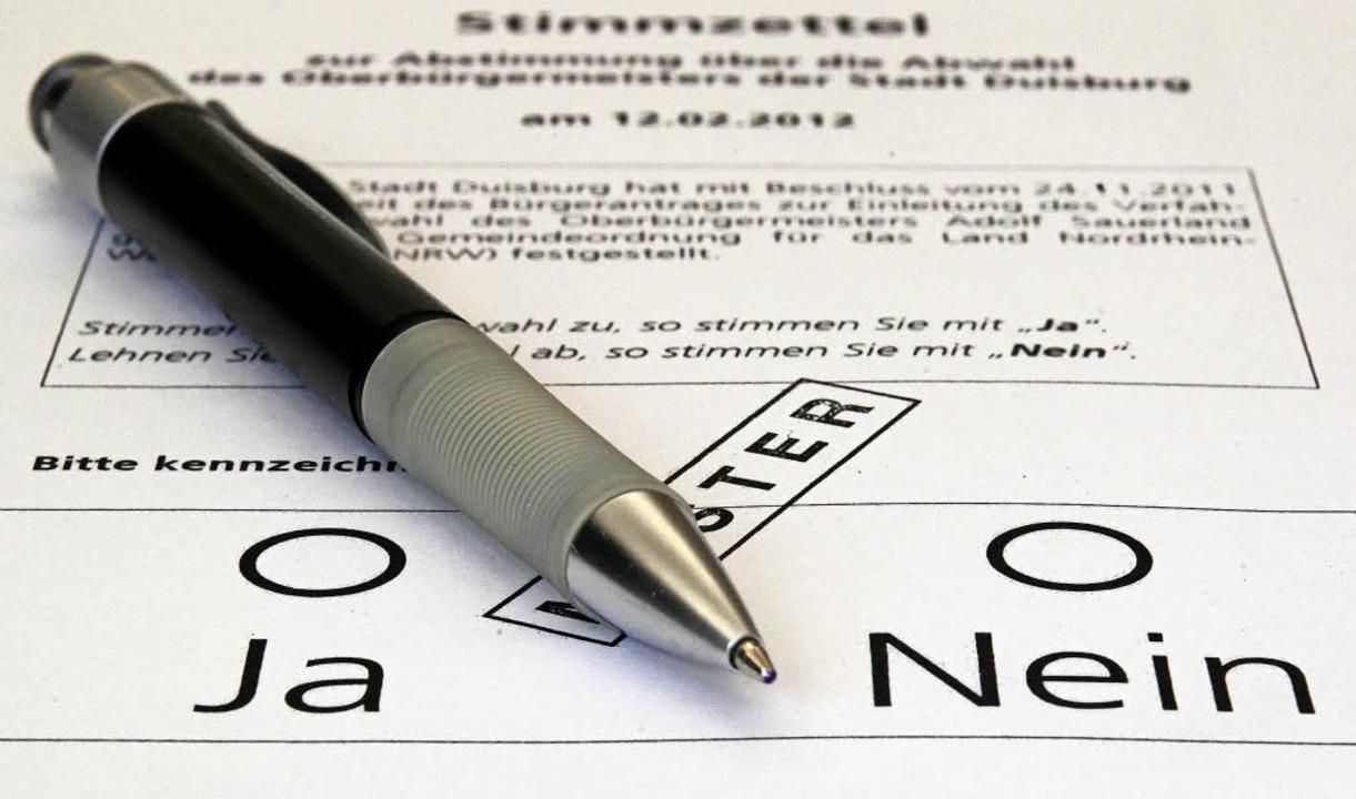 Ja oder nein – so einfach muss d... Bürgerentscheid zu beantworten sein.   | Foto: dpa