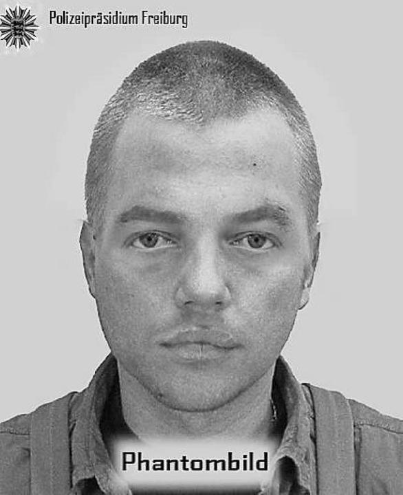 Phantombild des Mannes, der bei Gottenheim ein Mädchen überfallen hatte.  | Foto: polizei