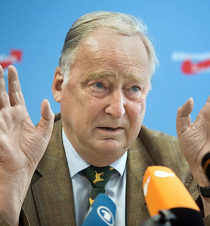 Alexander Gauland, stellvertretender AfD-Vorsitzender     Foto: dpa