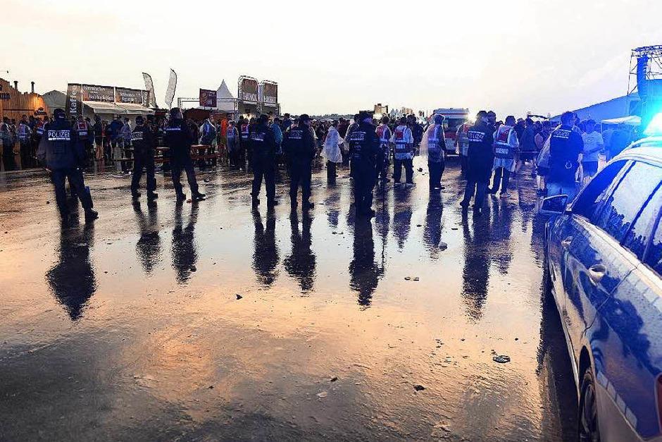 Unwetter beim Southside-Festival (Foto: dpa)