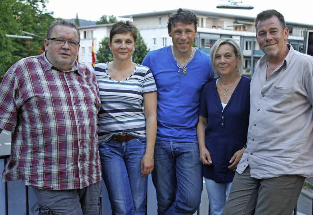 Klaus Ciprian-Beha, Bärbel Jung, Steph...links) bilden den Vorstand der Zunft.   | Foto: TM