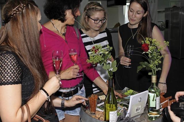 Ein Model für den Wein