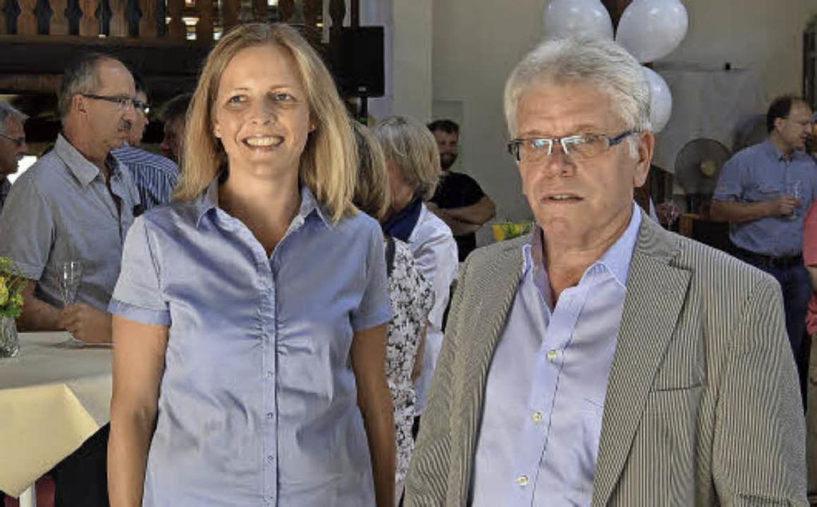Geschäftsführerin Diana Ortlieb und Architekt Herbert Winkler    Foto: Ulrike Jäger