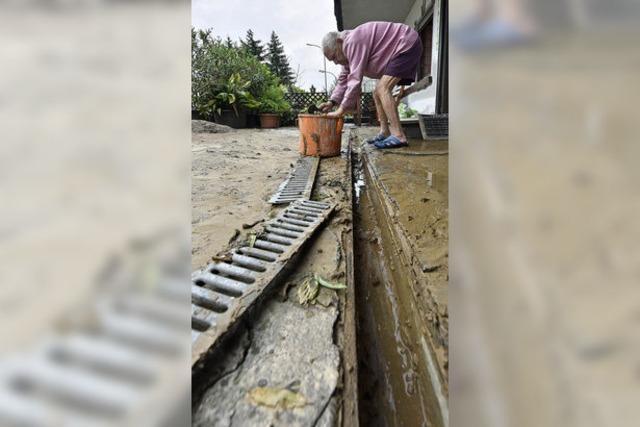 Unwetterartige Regenfälle setzten Hochdorf unter Wasser
