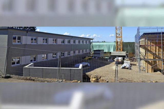 Baufortschritt beim Flüchtlingsheim
