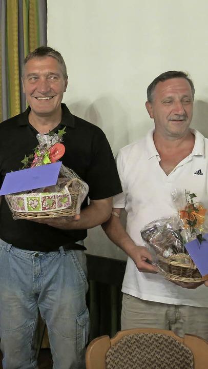 Ein dickes Dankeschön ging an  Joachim...ausragende  Leistungen für den Verein.    Foto: Erhard Morath