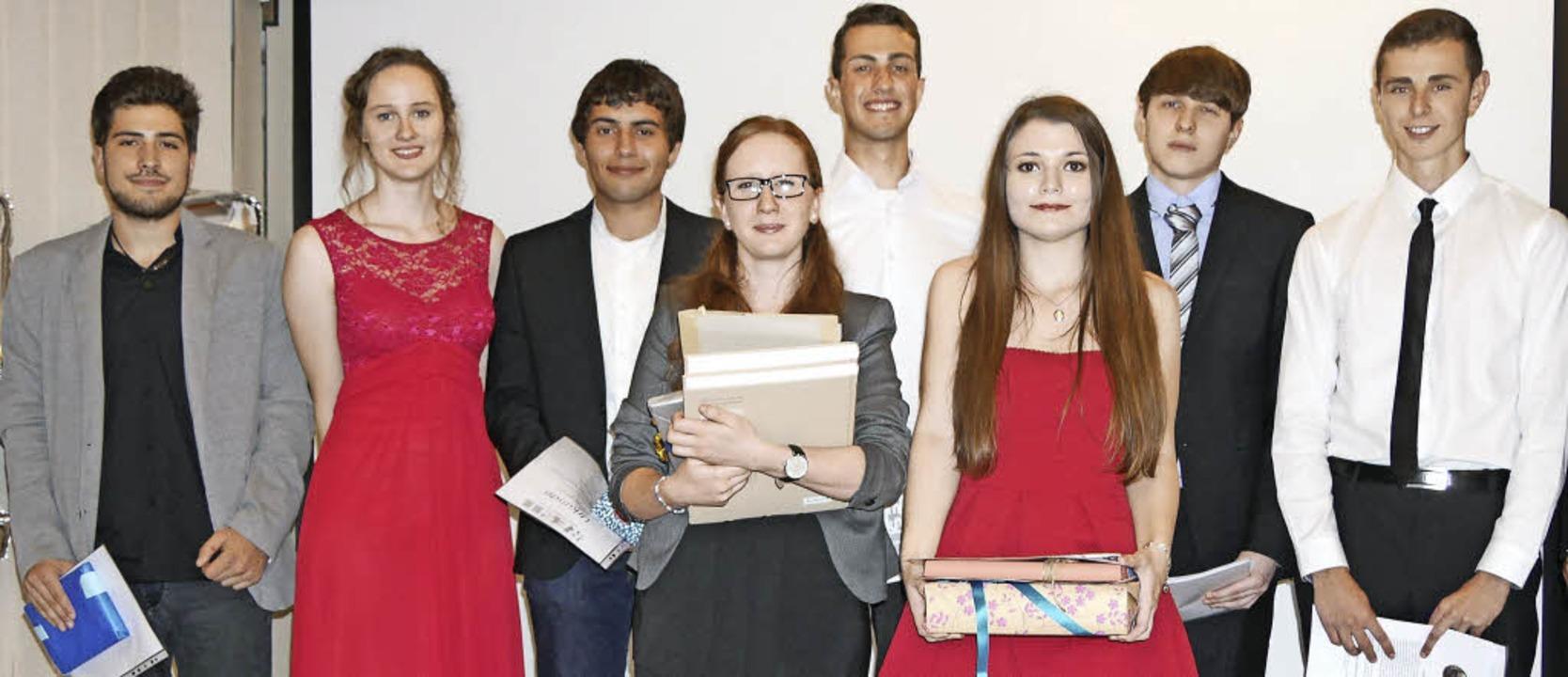 Die Preisträger im Wirtschaftsgymnasiu..., Dennis König, Tom Heyde (von links)   | Foto: Marion Rank