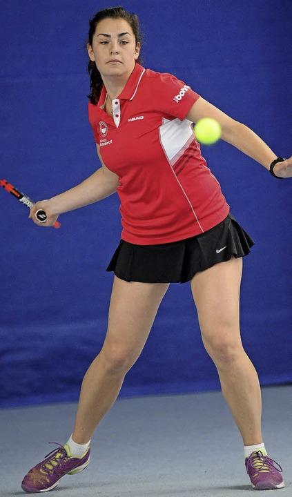 Im Match-Tiebreak für den FTC erfolgreich: Kalina Bozhilova     Foto: ake