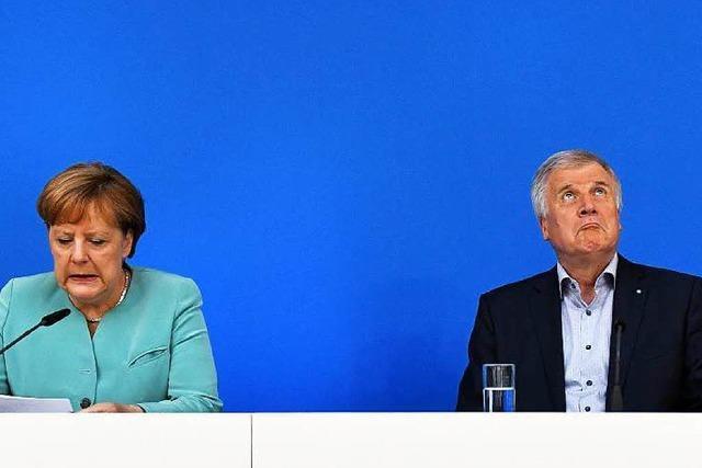 Merkel und Seehofer betonen Willen zur Gemeinsamkeit