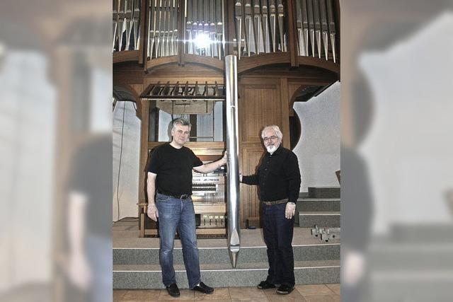 Die Orgelpfeifen sind in Reha