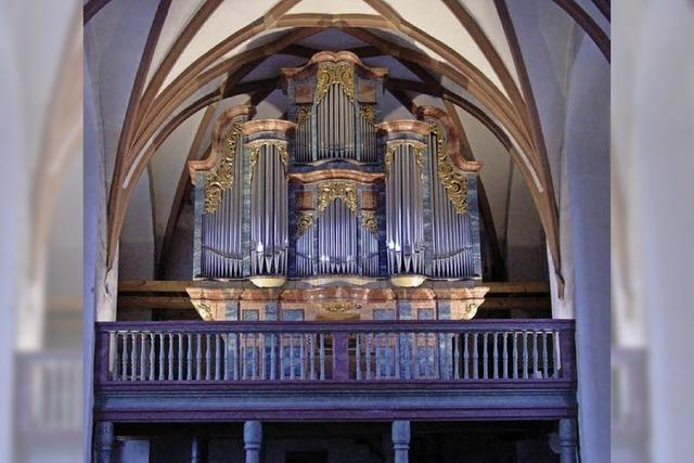 Drei Organisten an fünf Orgeln mit