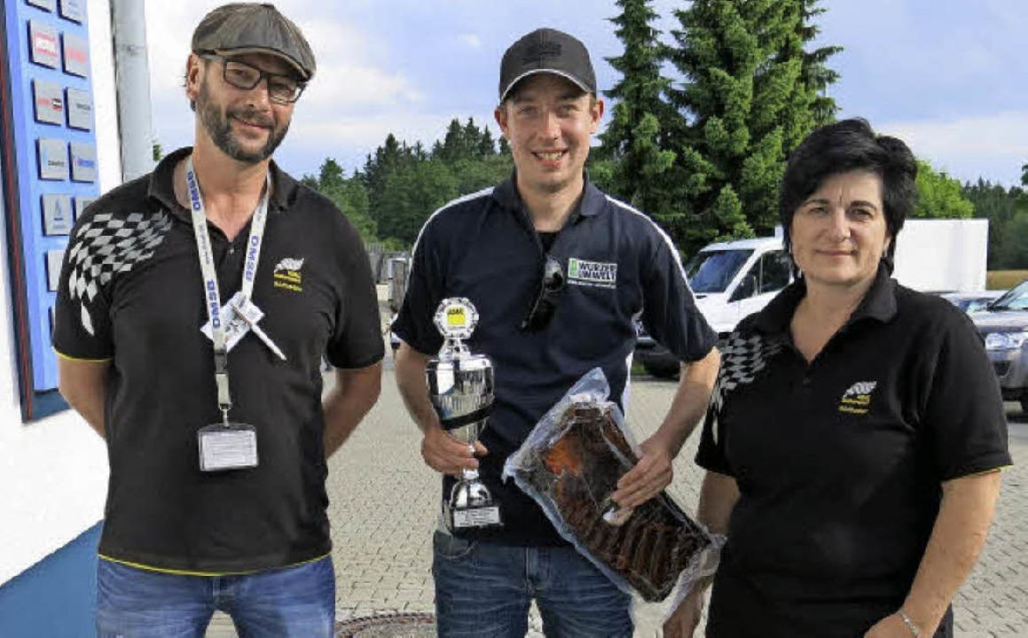 Tagessieger  wurde Lars Heisel aus Nie... Dagmar Schuler (Schriftführerin AMC).  | Foto: Erhard Morath