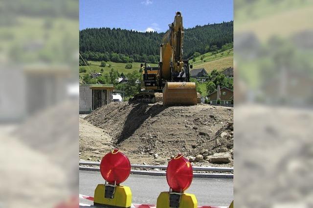 Erschließung am Brühlweg in Münstertal fast beendet
