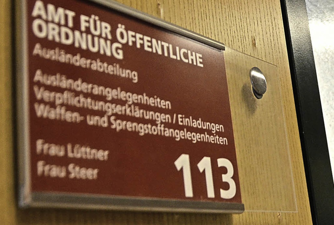 Den Weg zur  Ausländerabteilung im ers...zu kennzeichnen, gehört zu den Zielen.  | Foto: Peter Gerigk