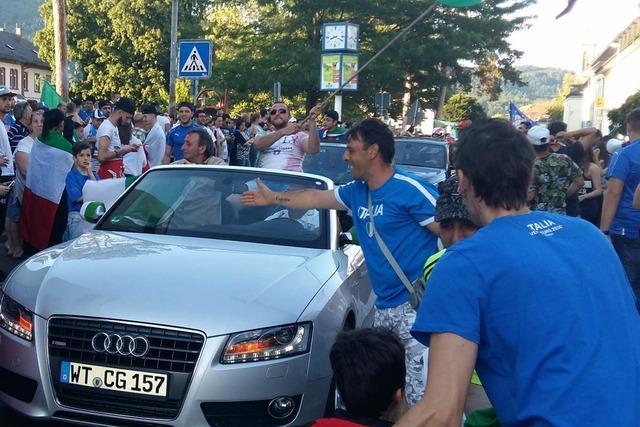 Stimmung kippt: Polizei stoppt Korso italienischer Fans