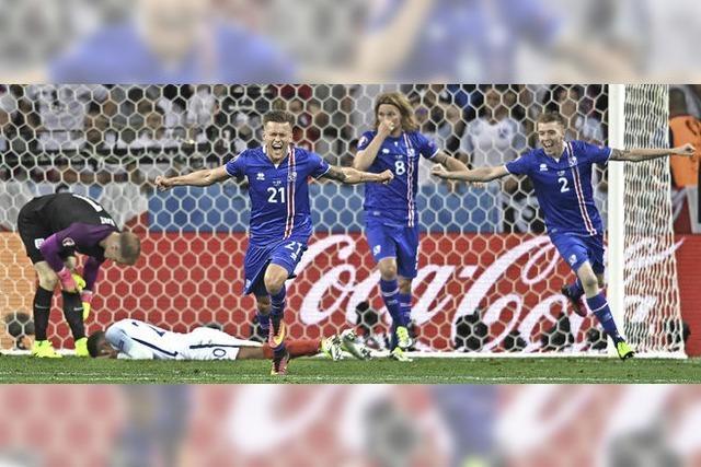 Island schafft gegen plan- und einfallslose Engländer ein Fußballmärchen