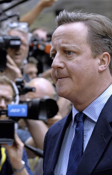 In Erklärungsnot: David Cameron auf dem EU-Gipfel in Brüssel   | Foto: afp
