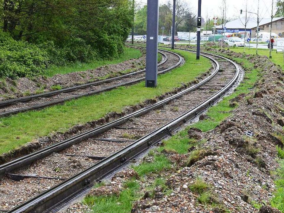 Gleise liegen seit einem Jahr frei.  | Foto: Ingo Schneider