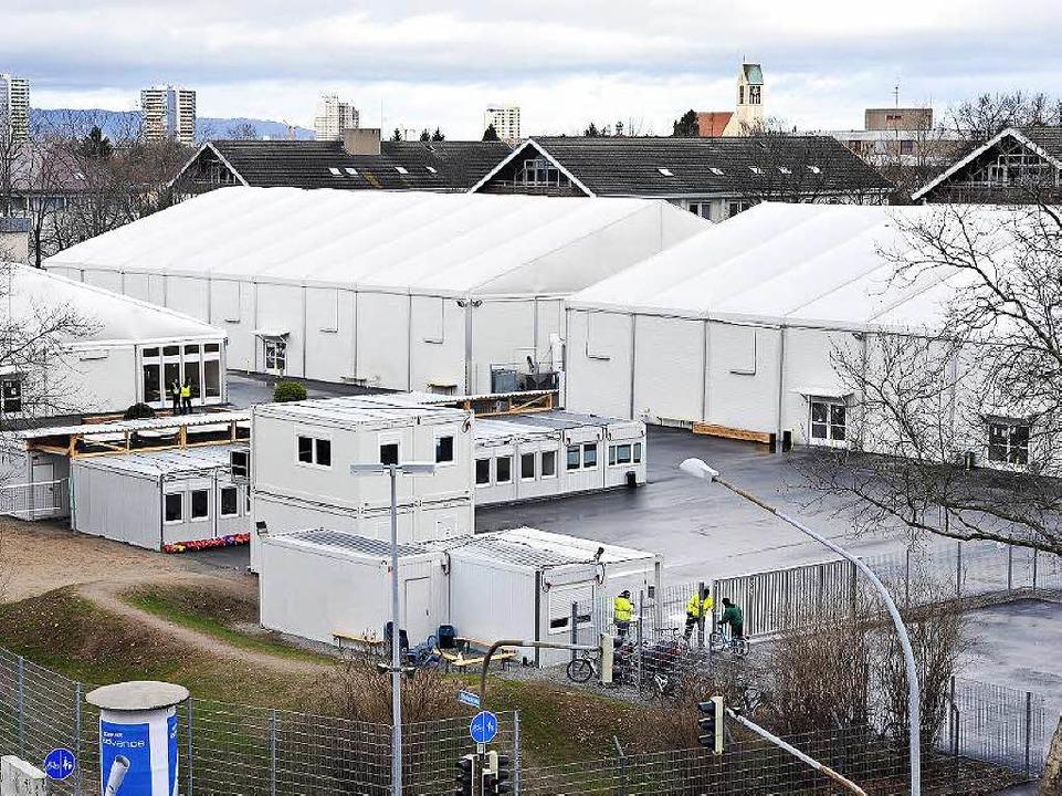 Die Erstaufnahmestelle für Flüchtlinge...nd es etwas mehr als 100 (Archivbild).    Foto: Thomas Kunz