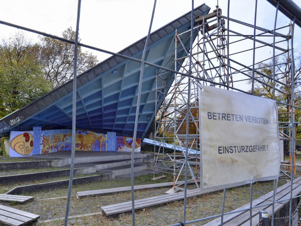Der Musikpavillon wird aktuell saniert.  | Foto: Michael Bamberger