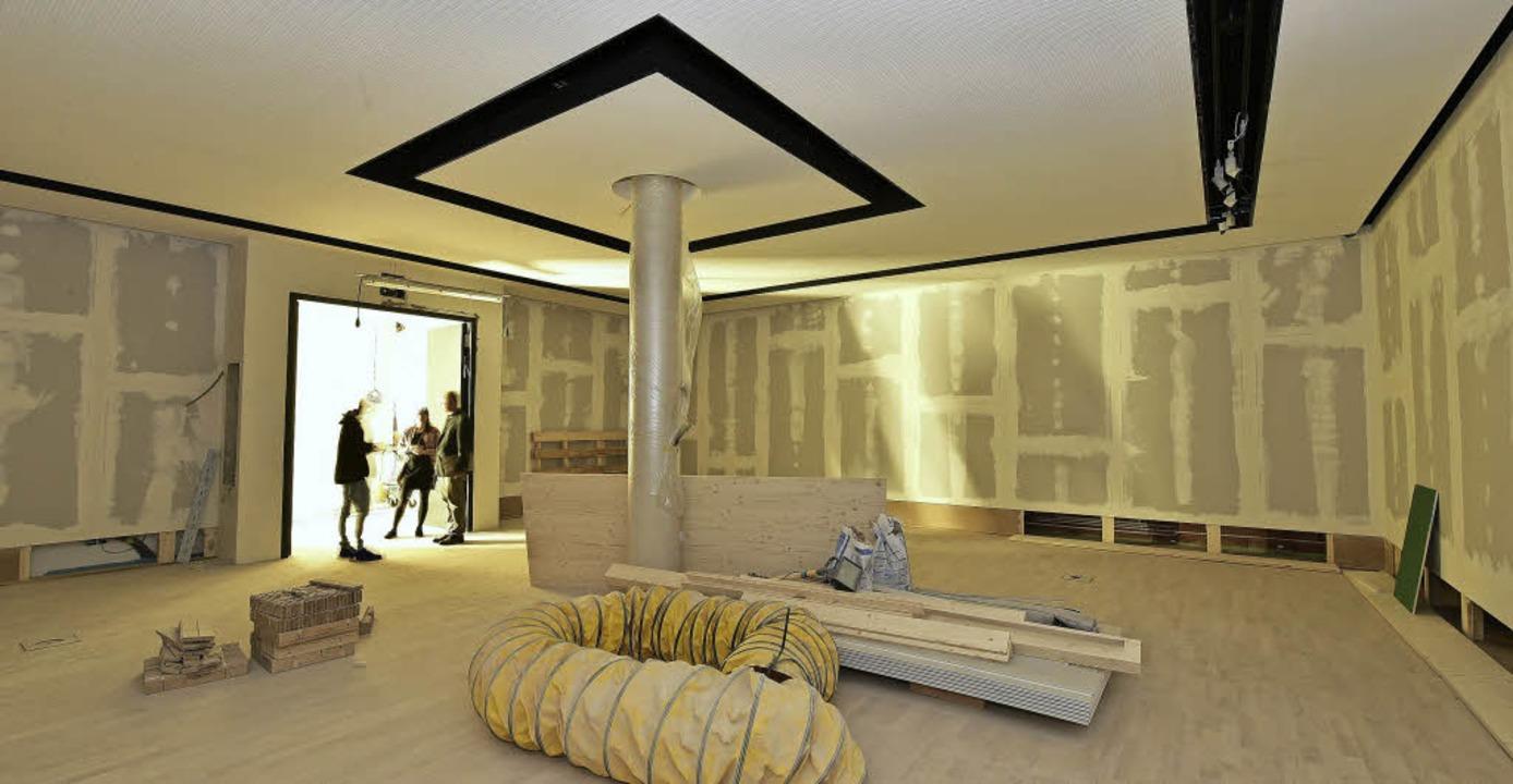 Der Ausstellungsraum für Grafiken, inzwischen ist er tiefgrün gestrichen.  | Foto: Thomas Kunz