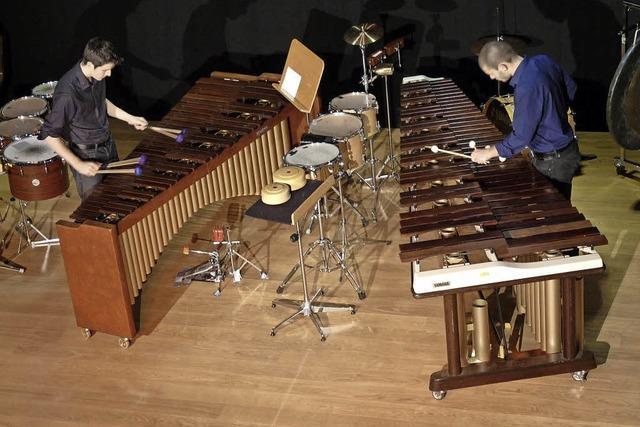 Schlagzeug-Duo Mixsticks im Alten Kapuzinerkloster