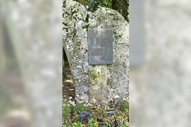 Ein Gedenkstein für drei Hinrichtungen