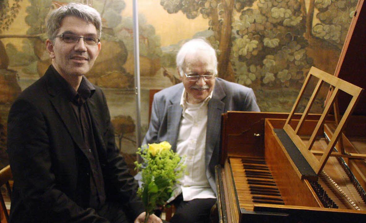 Der Musikwissenschaftler Jan Reichow (...chow spielte auf Originalinstrumenten.    Foto: Hans Jürgen Kugler