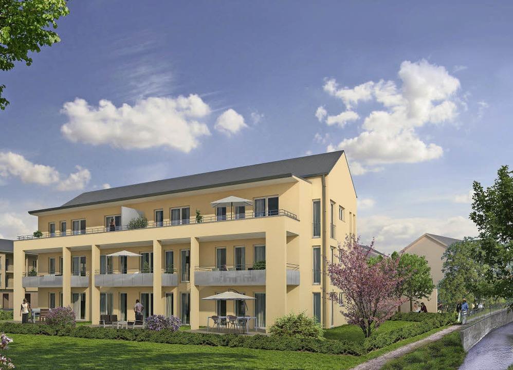 Am Ehebach liegt auch der Gemeinschaftsraum des Bauprojekts.    Foto: FWD Hausbau GmbH