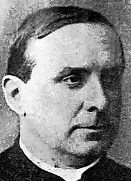 Pfarrer Berger, der Ordensgründer    Foto: orden