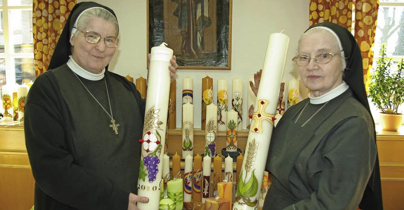 Gerade die Werkstätten der Franziskane...ke Kerzen können dort erworben werden.    Foto: hrö