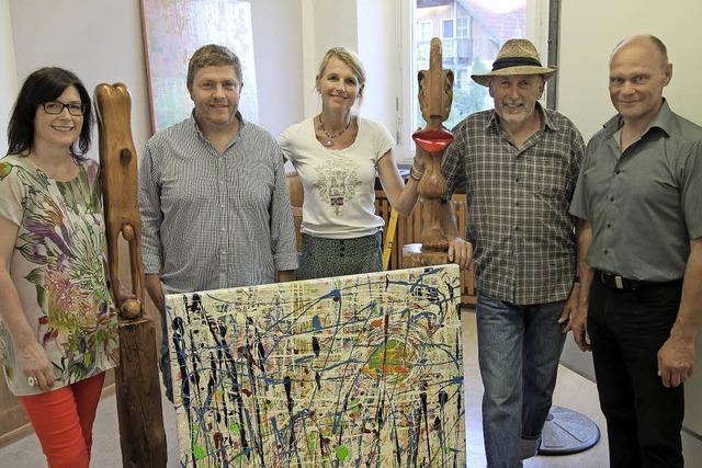 Vier Künstler stellen zum Jubiläum aus