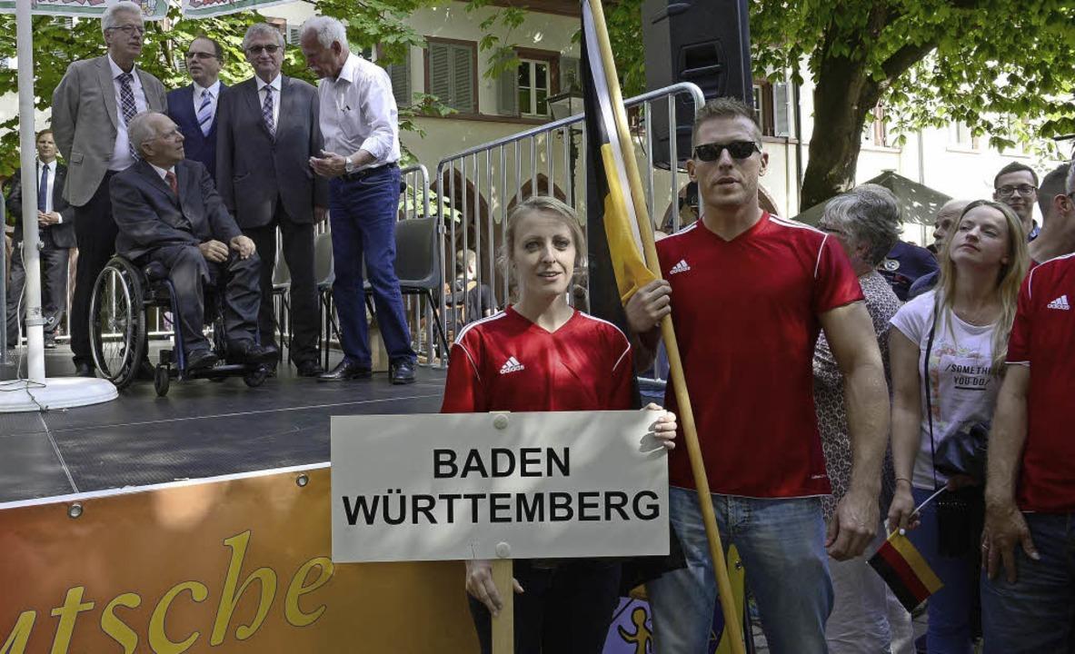 Die Meisterschaft kann beginnen: Bunde...sstadt die 1700 Teilnehmer willkommen.  | Foto: Ingo Schneider