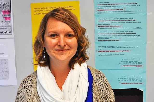 Stefanie Rizzo koordiniert Helferkreise für Flüchtlinge