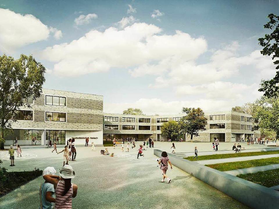 So soll die Staudinger-Gesamtschule eines Tages aussehen.   | Foto: grafik: Architekturbüro Sacker