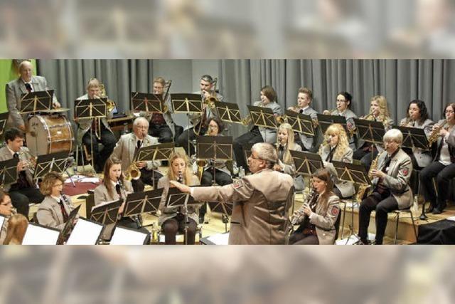 Mit dem Musikverein Untermettingen in Höchenschwand