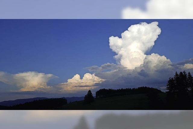 Wolkenhimmel über Biederbach