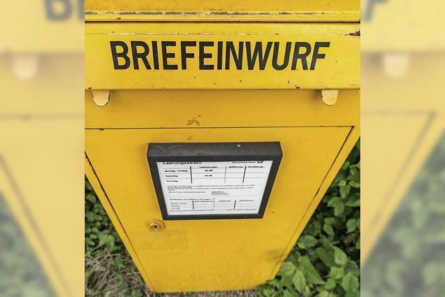 Nimburg ohne Briefkasten