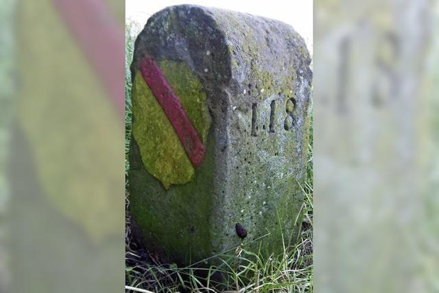 Ein Grenzstein feiert seinen 450. Geburtstag