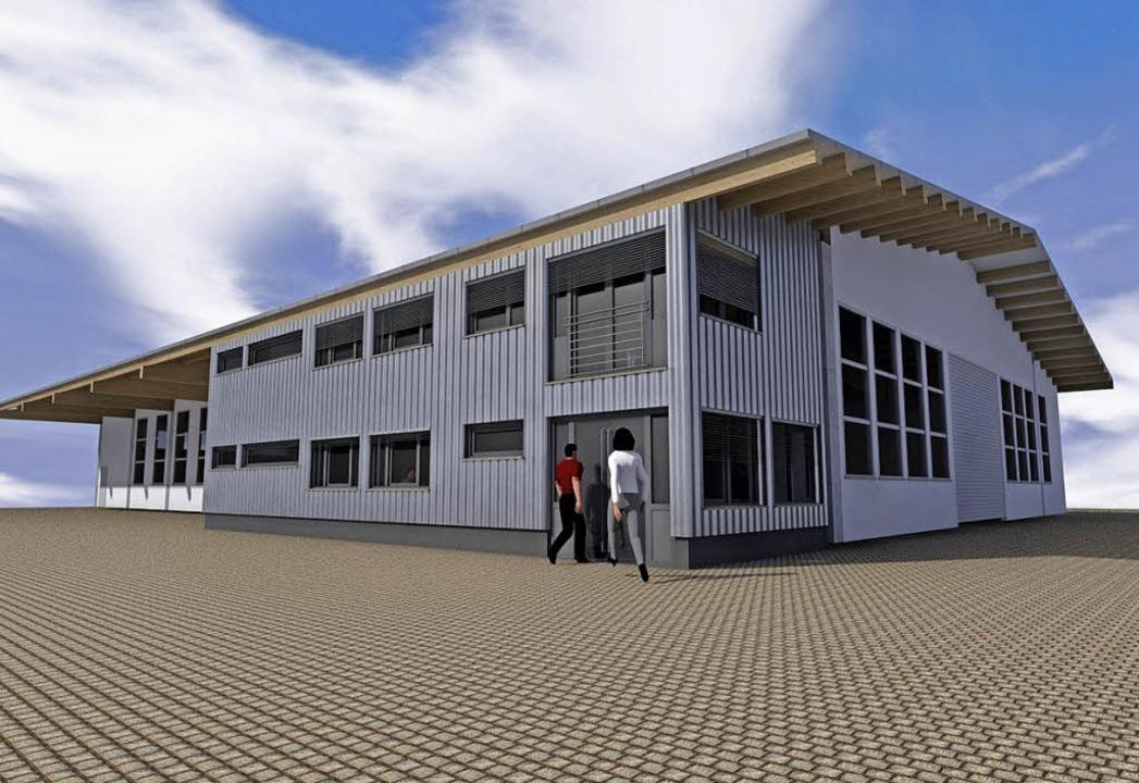 So soll das neue Betriebsgebäude des A...ut werden soll in Holzständerbauweise.  | Foto: Illustration Faller³