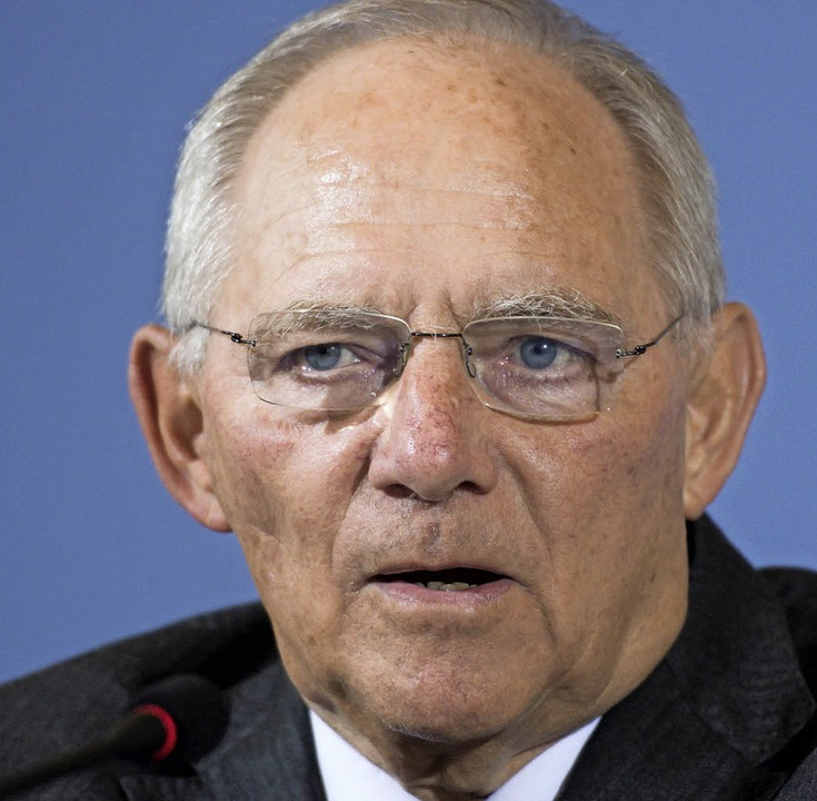 Wolfgang Schäuble  | Foto: dpa