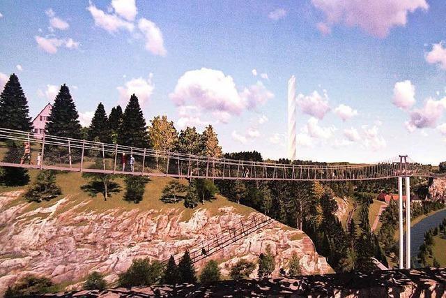 Anlieger protestieren gegen Hängebrücke in Rottweil