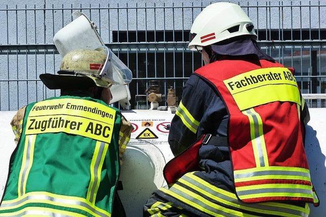 Explosionsgefahr: Polizei sperrt Straße in Emmendingen