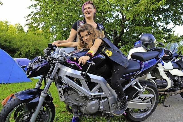 Sogar aus Dänemark waren Biker Motorradtreffen des MC Scorpions angereist