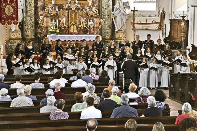 Chor und Orgel zum Finale