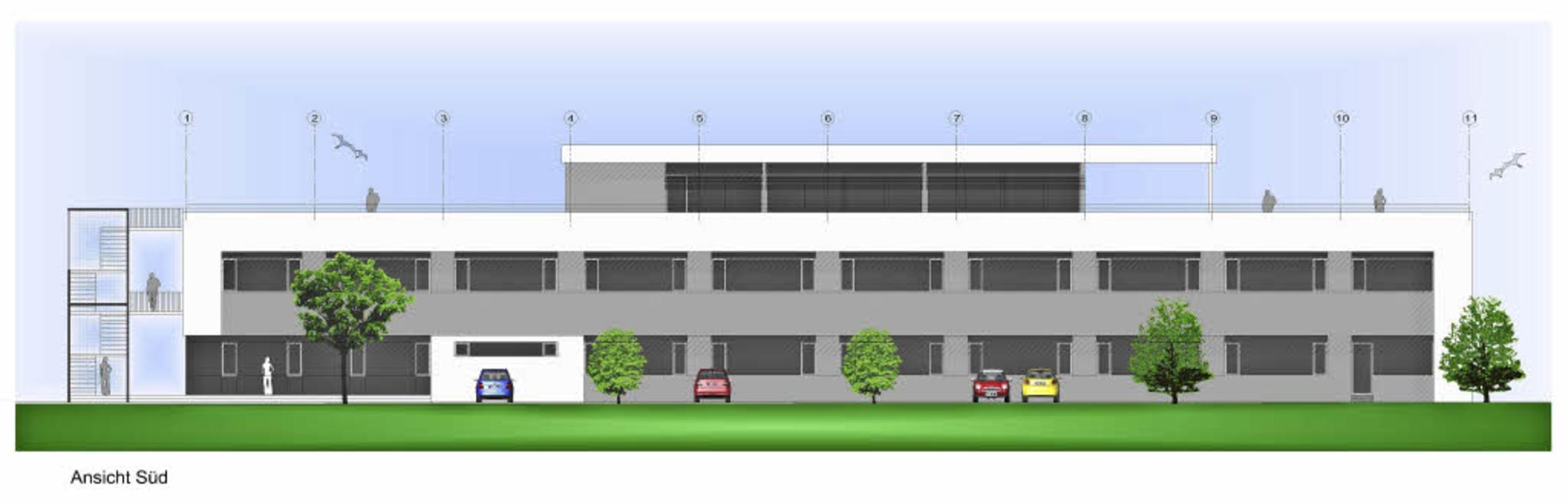 So soll das neue Bürogebäude der Firma Ystral aussehen.   | Foto: repro: BZ