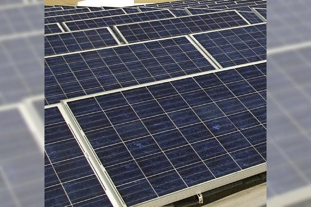 Bald kommt Licht ins Solarprojekt