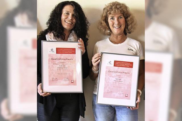 Zwei Kindergärten nun mit Zertifikat