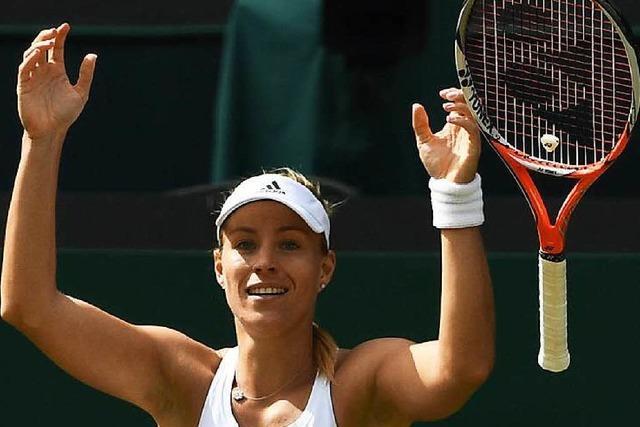 Angélique Kerber im Finale gegen Serena Williams