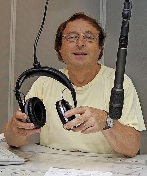 Klaus Amann  im Studio, eine Aufnahme aus dem Jahr 2010   | Foto: Privat